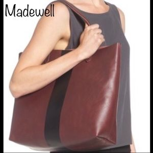 """Madewell """"The paint stripe transport tote"""""""
